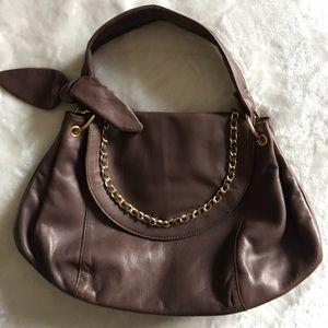 NWOT BCBG MAXAZARIA Leather Gold Tone Chain Bag